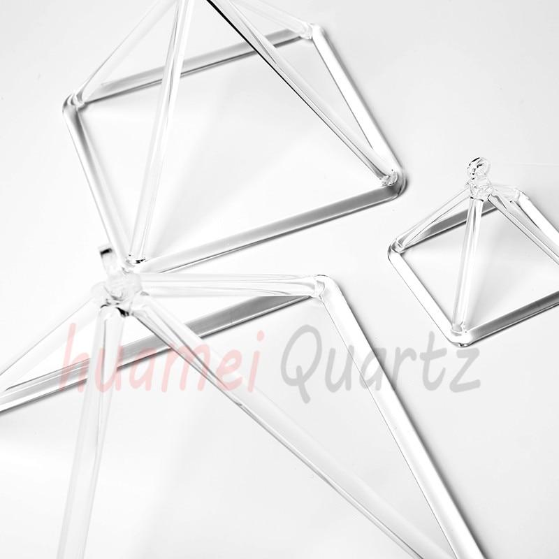 Pirámide musical de cristal para meditación y curación de 10 pulgadas