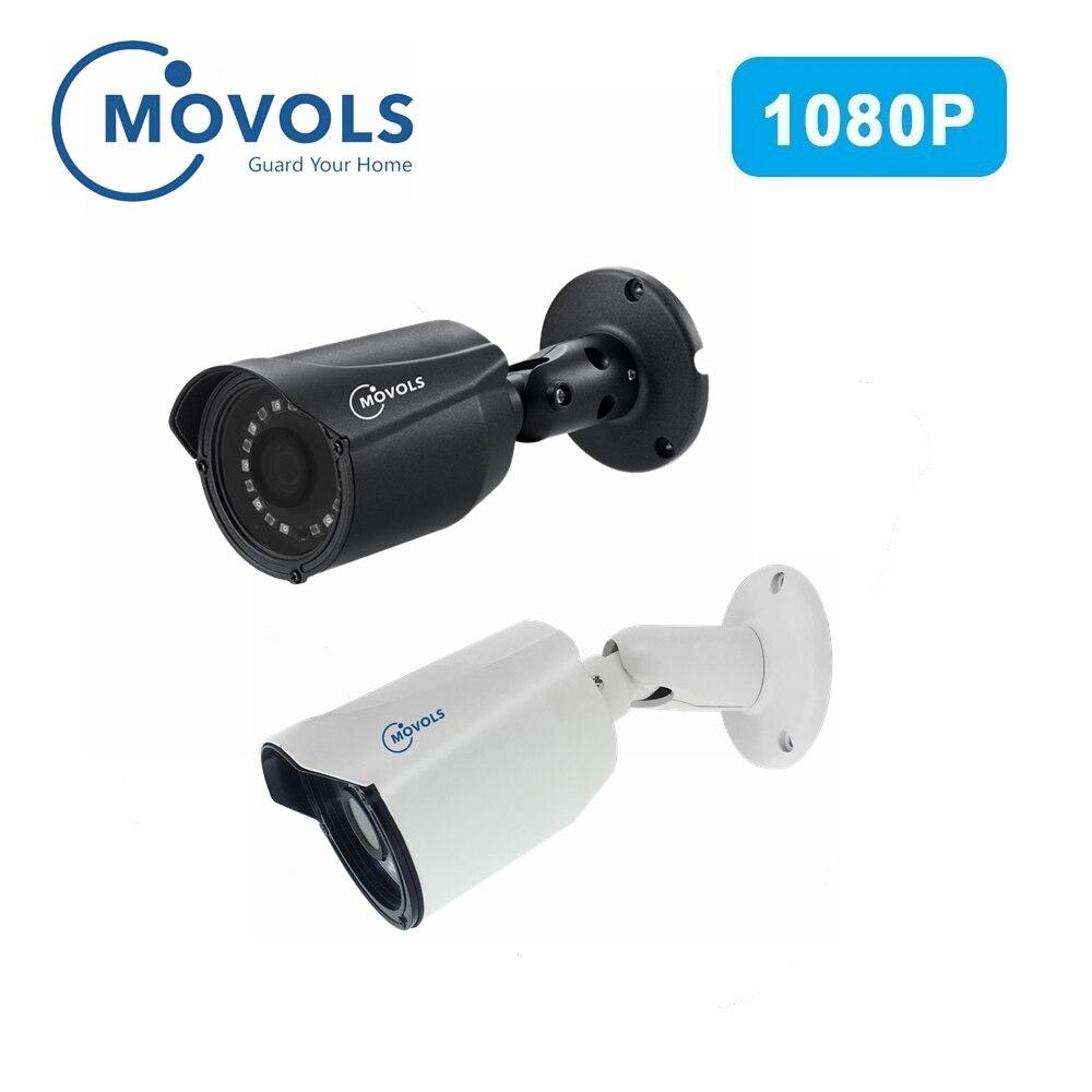 MOVOLS cámara analógica AHD 1080P alta definición vigilancia infrarroja 2MP CCTV seguridad exterior Bullet cámaras impermeables