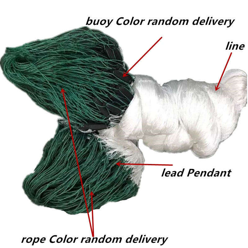 solid strong H3m*L80M 3layer big mesh gill net fish trap Multifilament nylon net red pesca fishing network fish net armadilha enlarge