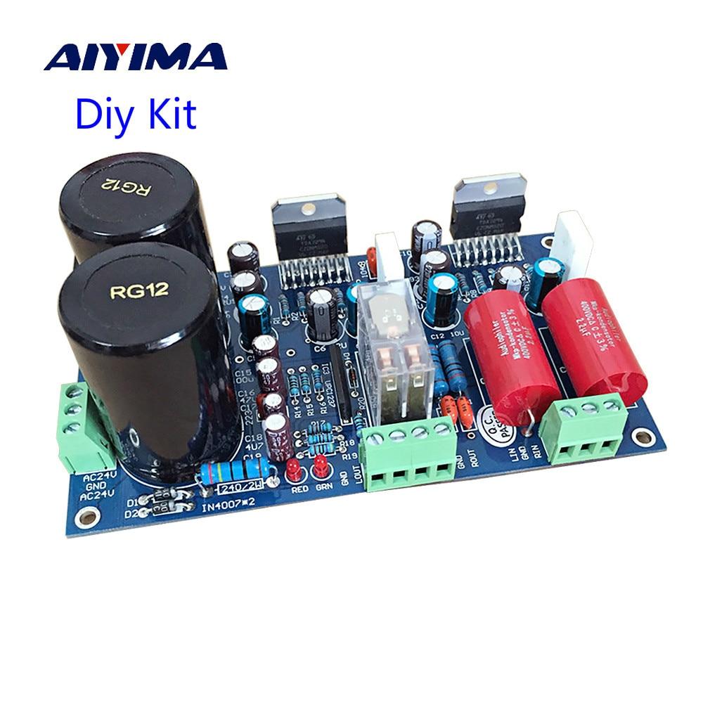 AIYIMA TDA7294 אודיו מגבר לוח 70W * 2 שני ערוץ רמקול הגנת כוח מגבר לוח Diy ערכת DIY קול מערכת רמקול