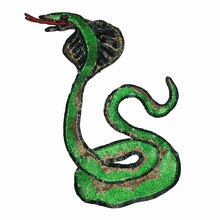 Parche de serpiente de lentejuelas bordado apliques de serpiente con cuentas Parches de Paillette para ropa Parches Bordados coser 40x24 cm AC1187