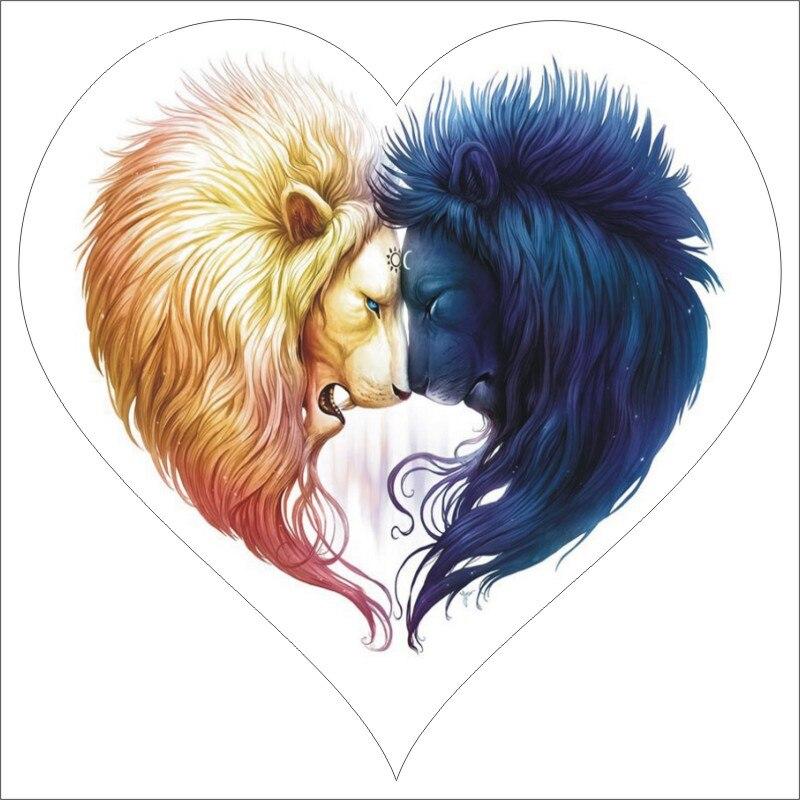 """5D DIY pintura de diamante cuadrado diamante """"cabeza de león amor"""" bordado de mosaico de piedras de estrás decoración del hogar mural regalo T341"""