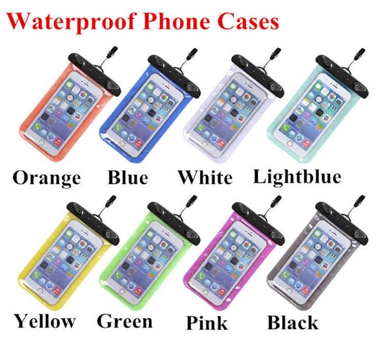 Cubierta impermeable de la caja del teléfono para Xiaomi Mi5/Lg G5 G4/Huawei P9 P8 Lite/galaxia J5 bolsa subacuática Pvc sellado