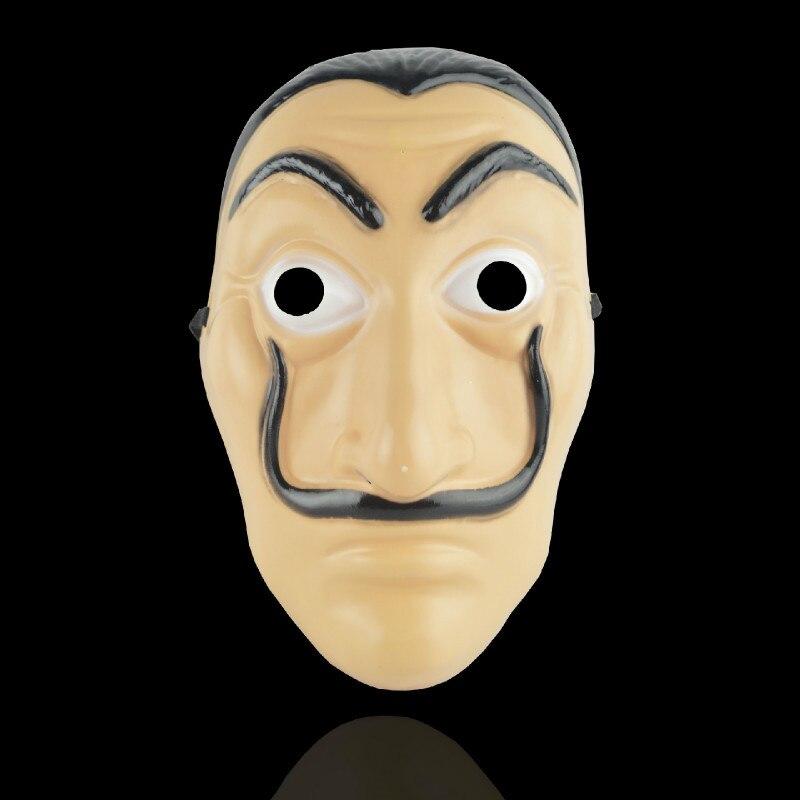 Halloween La Casa De Papel Dali Cosplay Maske für Männer Salvador Dali Maske für Karneval Weihnachten dali Maske