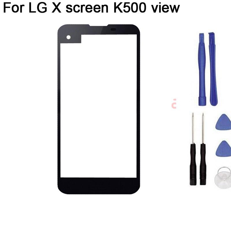 Новый сенсорный экран для LG X screen K500N View K500DS K500, дигитайзер сенсорного экрана, переднее стекло, сенсорная панель, Замена + инструмент