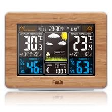 FanJu FJ3365/FJ3365B Weather Station EU Plug Temperature Humidity Forecast Barometer Alarm Moon Phase Colorful Weather Forecast