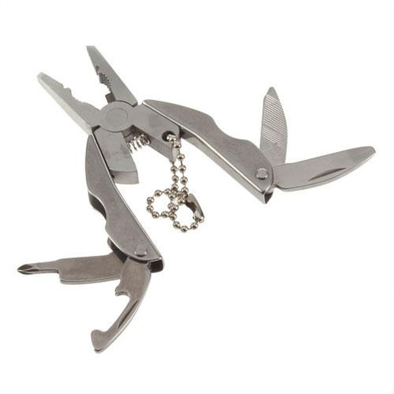1pc Outdoor Mini Tragbare Multi Funktion Folding Tasche Zange Messer Schraubendreher Clamp Keychain Wandern Camping