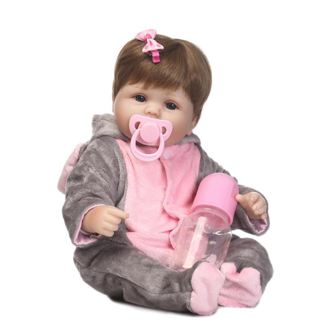 Muñeca con ojos abiertos de 2 a 4 años para niños de silicona suave realista con ropa Reborn Baby coleccionables, regalo, Playmate