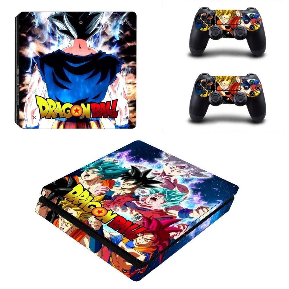 Dragon Ball Z Super Goku PS4 pegatina de recubrimiento delgada para Sony PlayStation 4 consola y 2 controladores PS4 pegatina de recubrimiento delgada