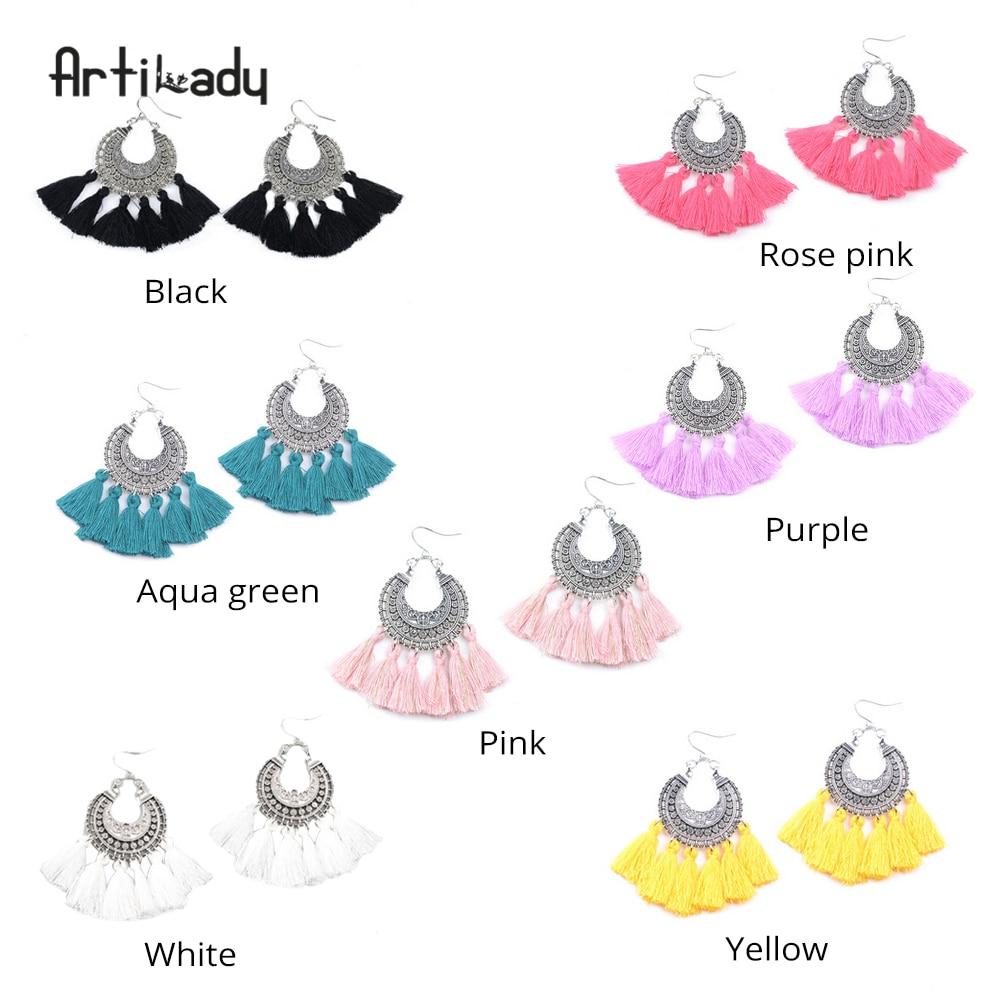 Artilady fashion boho tassel earring vintage bohemia women jewelry new year gift dropshipping