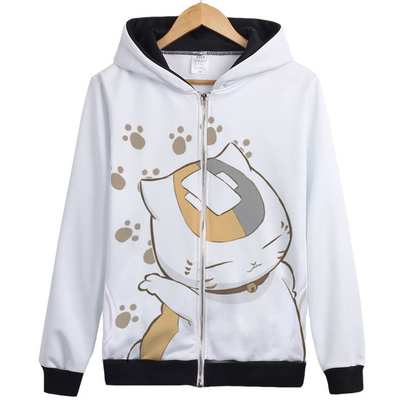 High Quality Anime Natsume Yuujinchou Nyanko Sensei Cat Cosplay Costume unisex Hooded Coat Hoodie Jacket