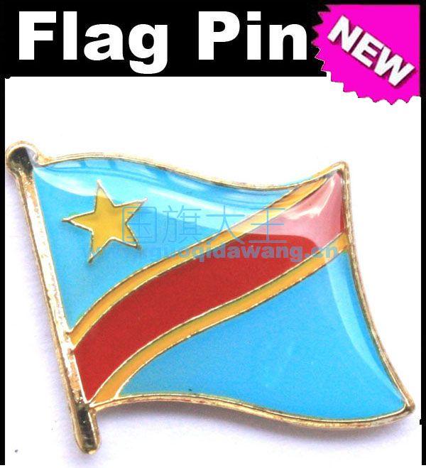 Nacional a Bandeira do Metal Pin de Lapela Pino Da Bandeira Congo República Democrática do Congo
