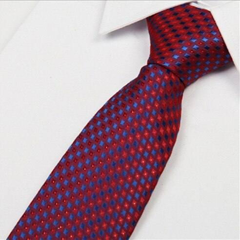 SHENNAIWEI men ties red 8 cm blue dot striped 2016 new arrival gentlemen neckties fashion casual high quality lote