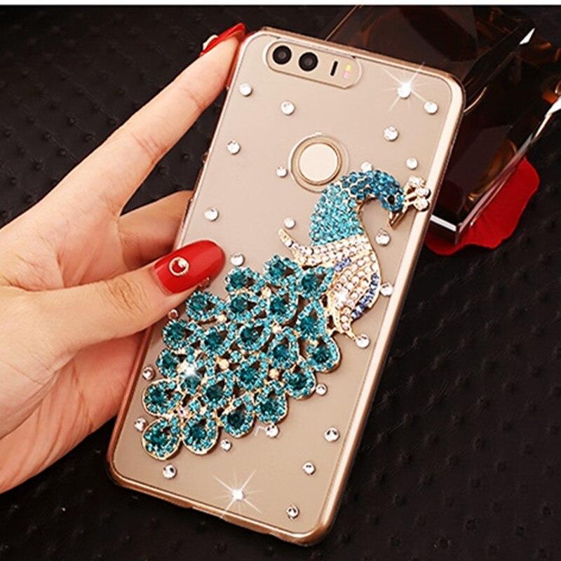 Funda p20 pro, lujosa y brillante, carcasa con diamantes de imitación y cristal para Huawei p10 p9 plus lite p8 lite 2017 honor 8 lite nova