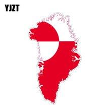 YJZT 14.8CM*8.5CM Funny Car Sticker Groenland Map Flag Decal Car Accessories 6-1265