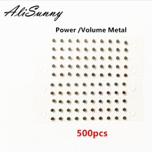 AliSunny 500 stücke Power Button Metall Spacer für iPhone 6 6S Plus 5,5 Volume Sperren Schlüssel Dicke Shim ersatz Teile