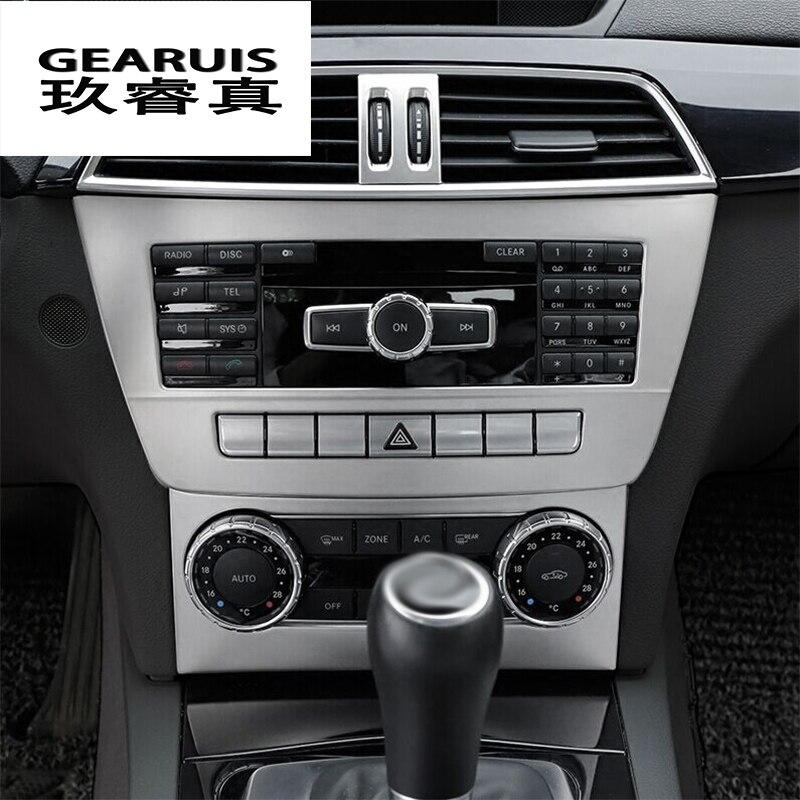 Tira de diseño de coche aire acondicionado CD Panel tapicería decorativa accesorios de Interior de coche para Mercedes Benz Clase C W204 11-14