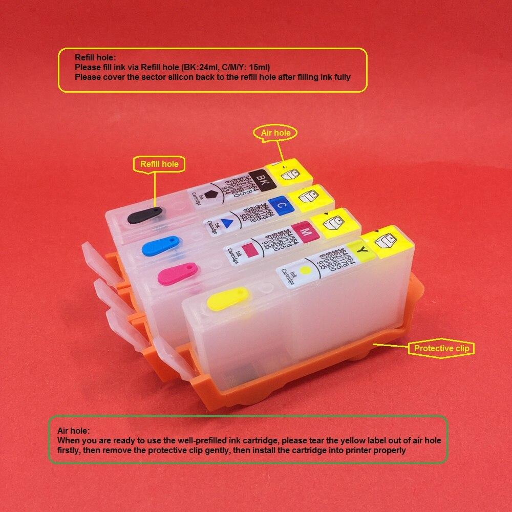 YOTAT recargable 685 cartucho de tinta para HP685 para HP Deskjet serie tinta ventaja 3525, 4615, 4625, 5525, 6525 impresora