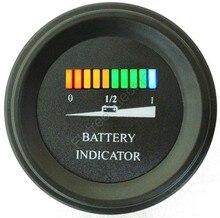 12 V Ronde batterij gauge 10 Bar LED Digitale Batterijontladingsmeter meter voor LSV NSV golfkarretjes