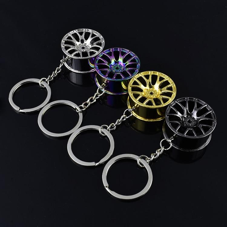 3D wheel rim keychain key ring wheel hub key chain key holder car key chain portachiavi llaveros hombre