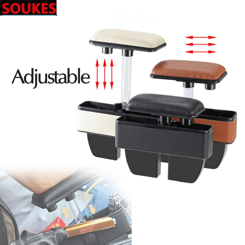 AdjustableCar Almacenamiento de espacio de asiento Central Armres caja para Volkswagen VW Passat B6 B5 B7 Golf 4 5 7 6, Polo Opel Astra J H Insignia