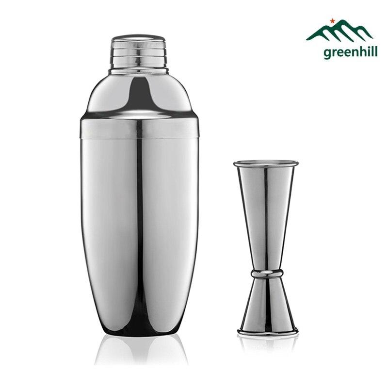 Greenhill Premium cóctel Barware, Kit de herramientas de Bar incluye 550 ml 18-8 agitador de acero inoxidable, jigger de doble extremo 25/50 ml