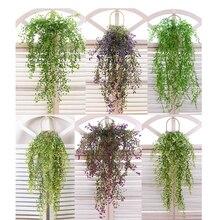 Nova 80 centímetros Simulação Da Planta Verde Deixa Flores Artificiais Vine Pendurado Garland Casamento Casa Garden Decoração Dropshipping