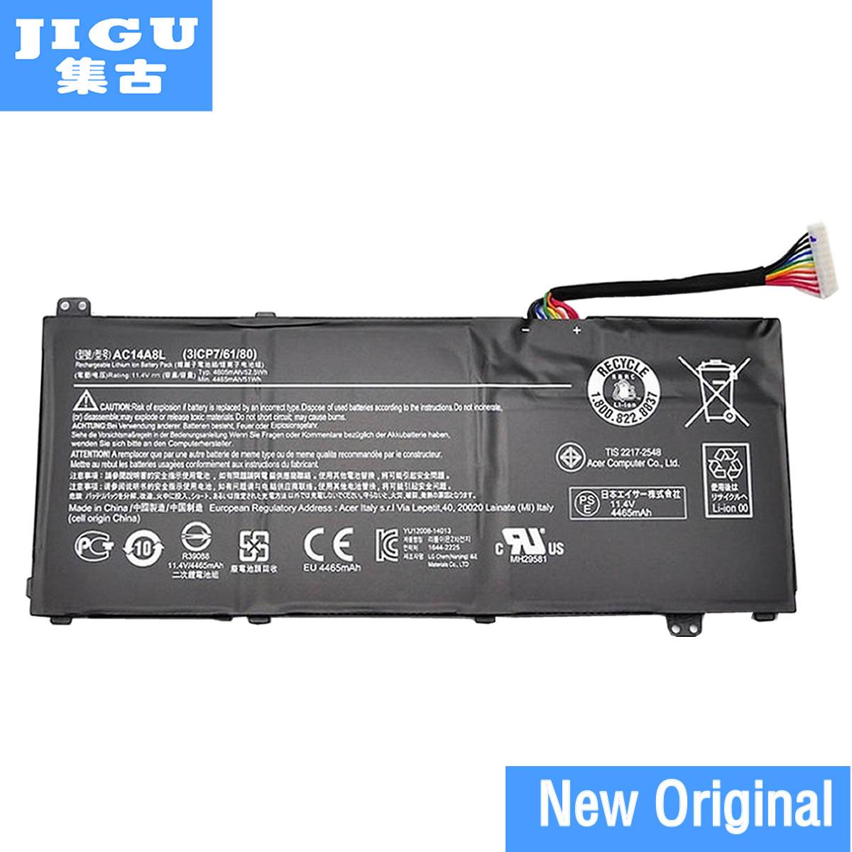 JIGU batería Original 31CP7/61/80 AC14A8L 934T2119H KT.00307.003 para Acer para Aspire V 15 Nitro VN7 VX 15 11,4 V 52.5WH