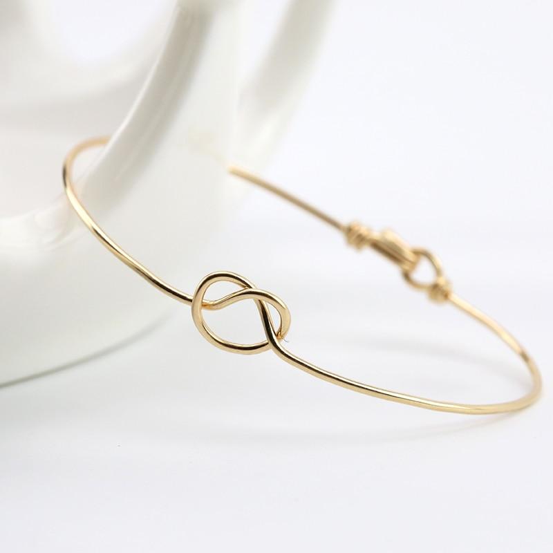 PINJEAS fait à la main DaintyHeart noeud bracelet bracelet fil Wrap personnalisé simple cadeau pour les femmes demoiselle dhonneur bijoux