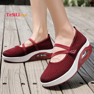 Zapatos Mujer 2019 Summer Fashion Women Flat Platform Shoes Woman Mesh Casual Shoes Moccasin Ladies Boat Shoes Zapatillas Mujer