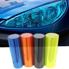 0.3x10 m/Roll Filme Lâmpada Do Carro Auto Car Light Farol Taillight Tint Vinyl Film Sticker
