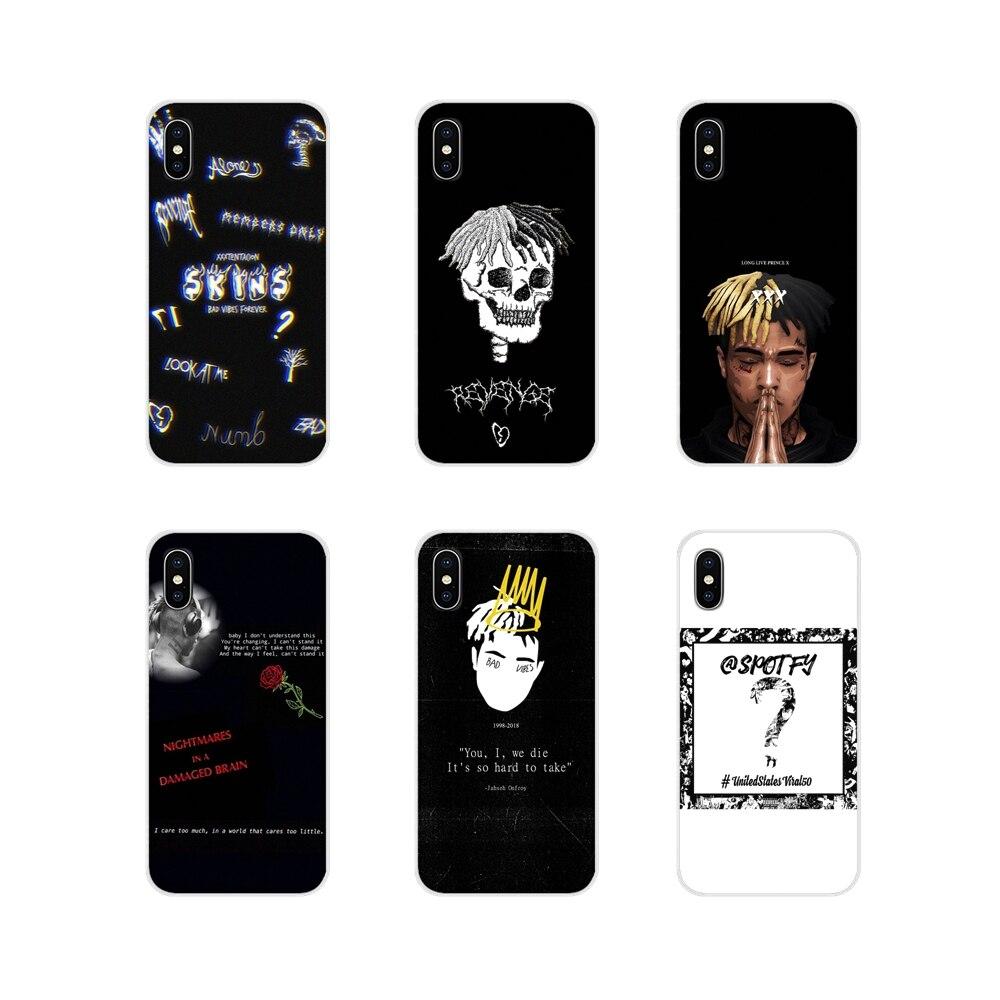 Musik rapper XXXTENTACION traurig Zubehör Telefon Abdeckungen Für Apple iPhone X XR XS MAX 4 4 S 5 5 S 5C SE 6 6 S 7 8 Plus ipod touch 5 6