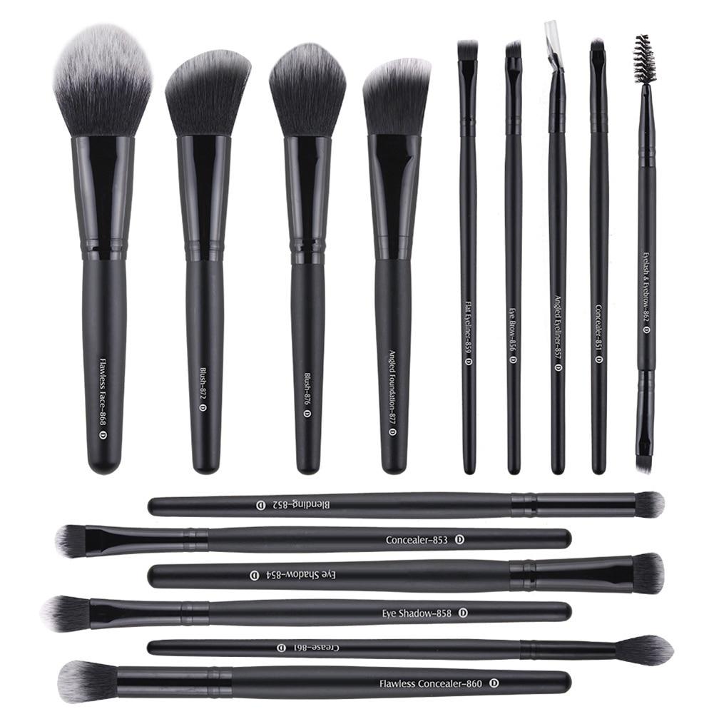 15pcs Make Up Brushes Makeup Brush Set Powder Blush Foundation Eye Shadow Eyeliner Eyelash Blending Brush