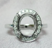 oval cut 4x6mm 14kt white gold 0 30ct natural diamonds engagement setting ring