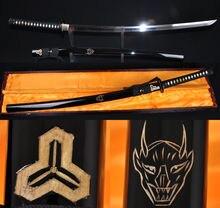 Katanas lame très tranchante de carbone   Bill de mort japonais, Kendo épée samouri Katana à haute teneur en carbone 1095 acier trempé, Katanas Real Hamon T10