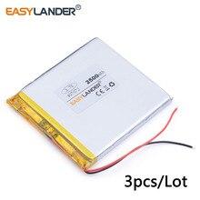 3 stücke/Lot 3,7 V lithium-batterie 407072 2500 milliampere patriot M608 M60 patriot p726 batterie Für MID laptop handy lautsprecher