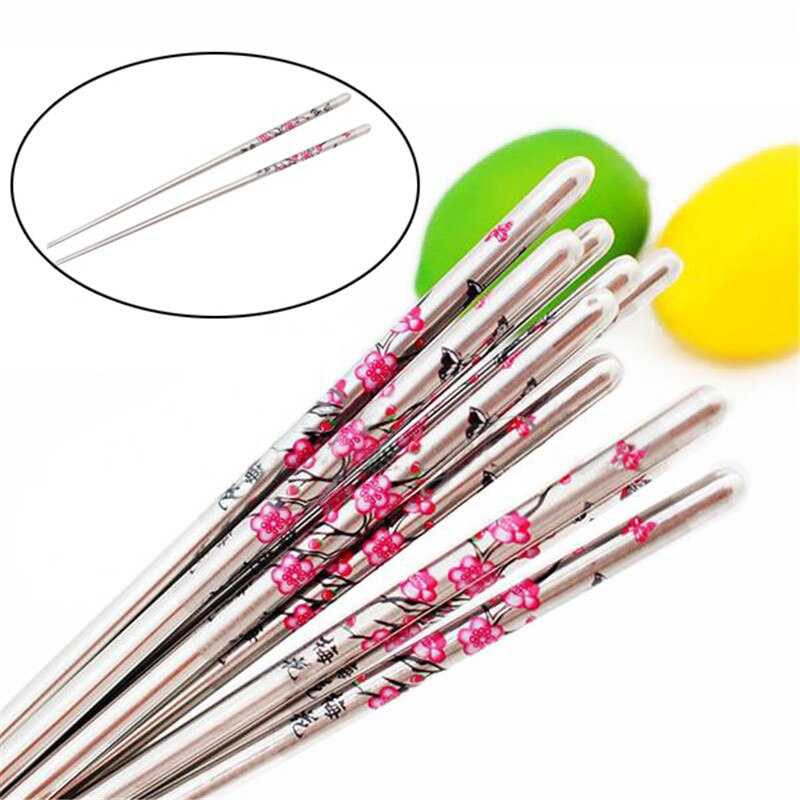 5 Pairs Stainless Steel Square Chopsticks Chinese Stylish Healthy Light Weight Chinese Chopsticks Metal Non Slip Design Kitchen Chopsticks Aliexpress