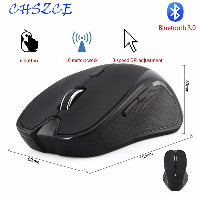 Беспроводная мышь 1600 точек/дюйм 6 кнопок регулируемый приемник оптическая компьютерная мышь BT 3,0 эргономичные мыши для mi pad 4
