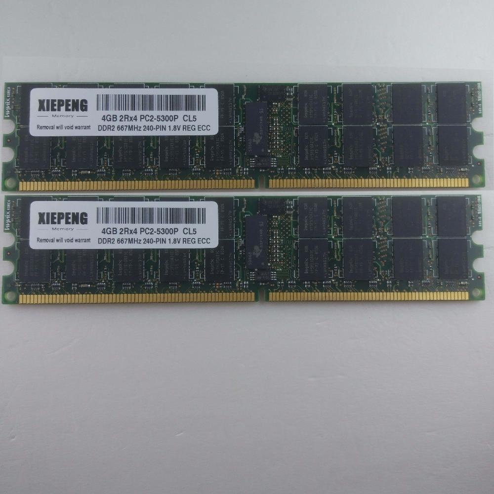 Para Sun Netra CP3020 CP3220 ATCA CP3250 X4200 Ultra 40 M2 16 GB DDR2 667 MHz ECC REG Servidor RAM 8 GB 2Rx4 PC2-5300P Registered ECC