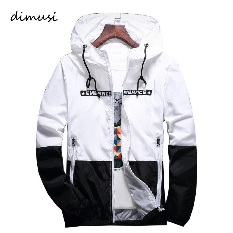 DIMUSI primavera otoño chaquetas de hombre chaqueta de Hip Hop rompevientos con capucha Casual cremallera hombre Retro Vintage Streetwear chaquetas, TA316