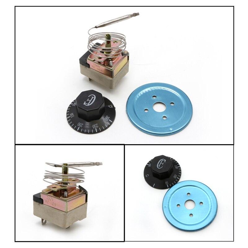 250V 16A 50-300 degrés Thermostat régulateur de température NC NO pour four électrique