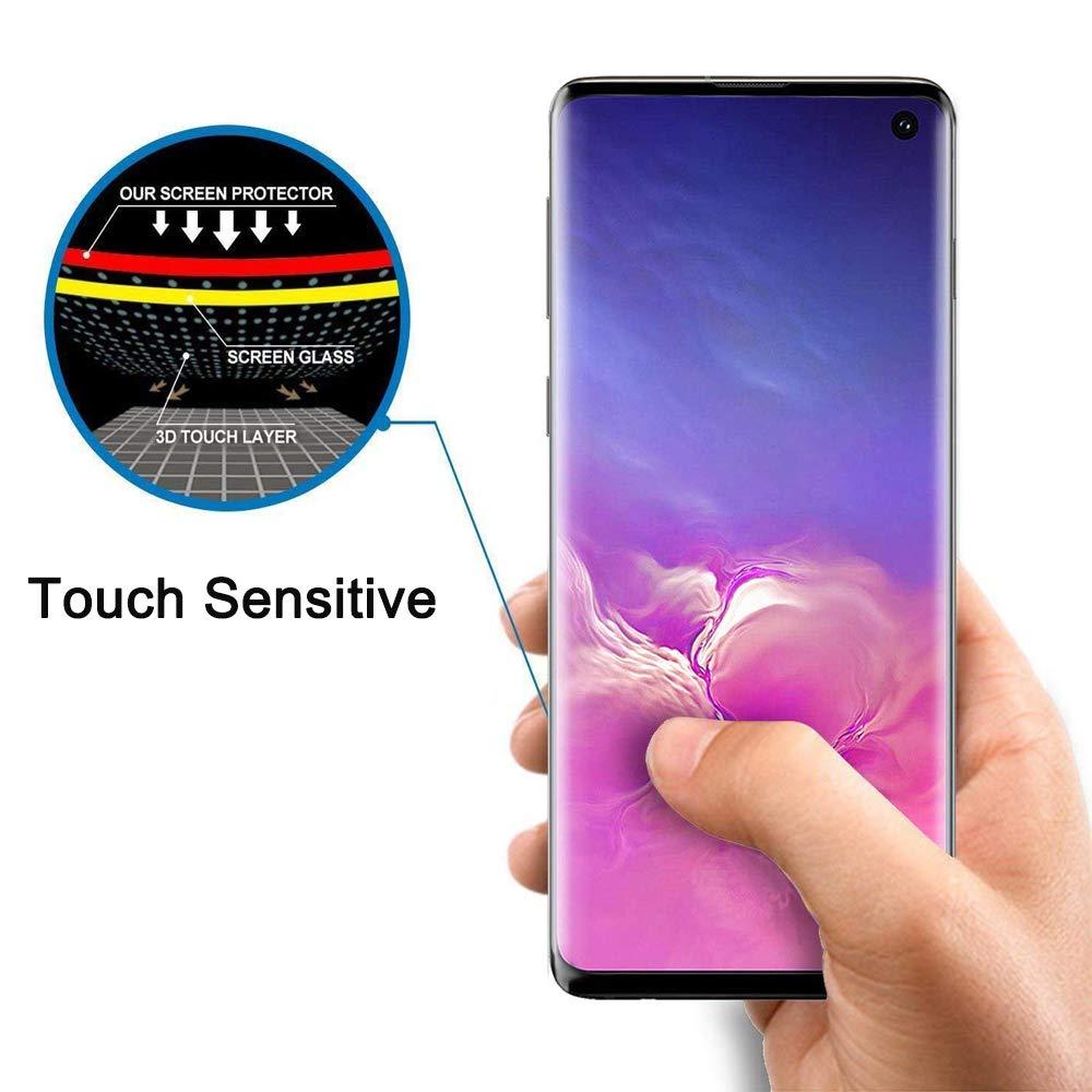 10 unids/lote de vidrio templado para Samsung galaxy S10 PLUS S10E S9 S8 NOTE 10 Pro protector de pantalla huella digital desbloquear flim cubierta completa
