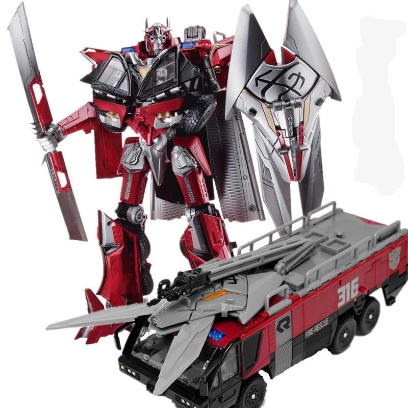 HSB transformación Sentinel primer comandante película Dark Of The Moon Leader figura de acción camión de bomberos modo KO Robot modelo Juguetes