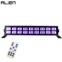 ALIEN 18 LED 54W UV Violet Stage Black Lighting Effect Bar Black Party Holiday Birthday Wedding Club DJ Disco Wall Washer Lights