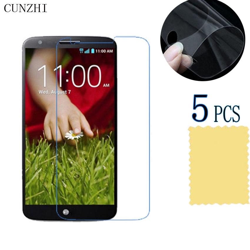 Cunzhi 5 piezas alta claro Protector de pantalla LCD para LG G2 D802 D801 protección Ultra Slim Material para mascotas