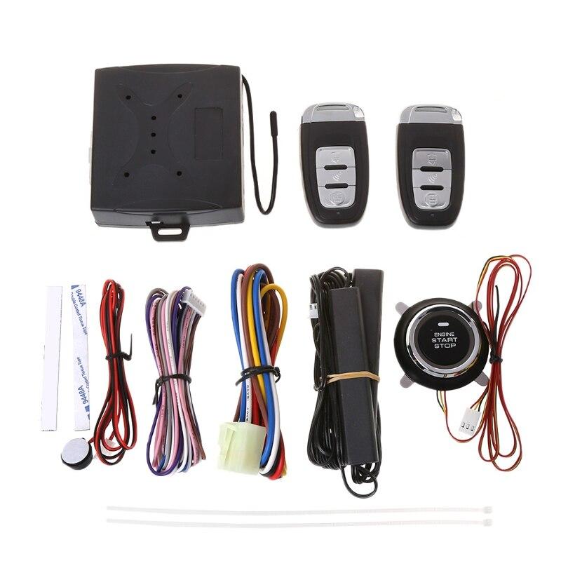 Nuevo sistema de alarma de seguridad de coche de 1 Set con sistema de advertencia de bloqueo remoto sin llave de entrada pasiva PKE