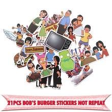 21pcs Burger shop Stickers for Laptop Skateboard Home Decoration Styling Vinyl Decals Cool DIY scrapbooking album Sticker E0017