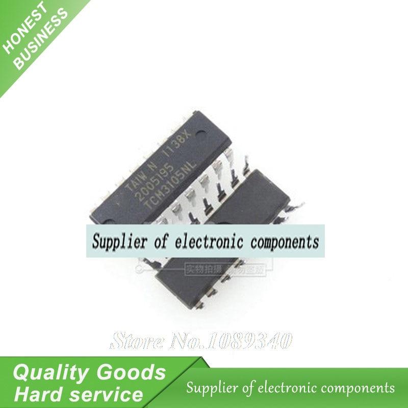 10PCS TCM3105NL TCM3105N TCM3105 DIP-16 IC FSK Modem New Original Free Shipping