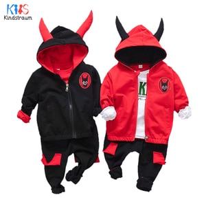 Kindstraum Boys & Girls Cotton 3 PCS Clothing Suits Children Coats + Shirts + Pants Wear Spring Soft Sets for Kids,RC1741