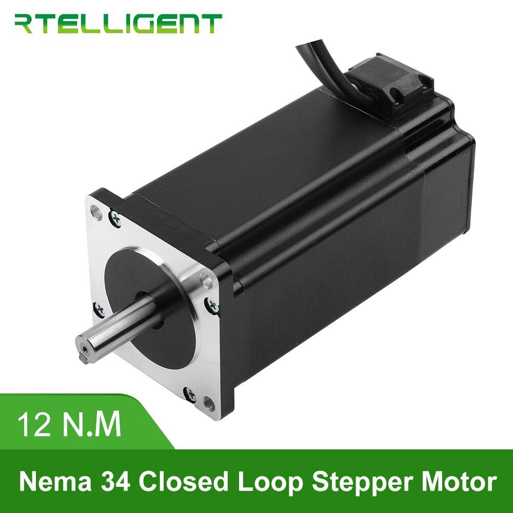 Factory Outlet Nema 34 86A12EC 12N.M 6.0A 2-Phase Hybird CNC Closed Loop Stepper Motor Easy Servo Motor Step-servo with Encoder